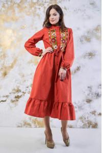 Сукня «Шепіт кольору» помаранчевого кольору