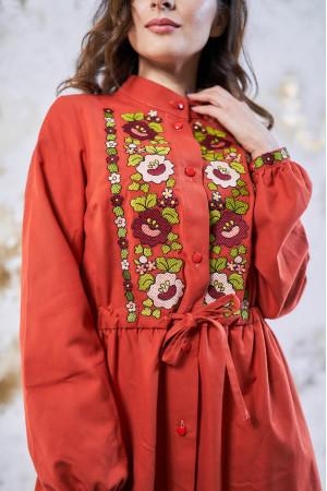 Платье «Шепот цвета» оранжевого цвета