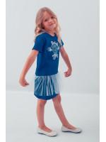 Сукня для дівчинки «Посмішка троянди» синього кольору з сіточкою