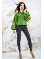 Вышиванка «Гармония» зеленого цвета