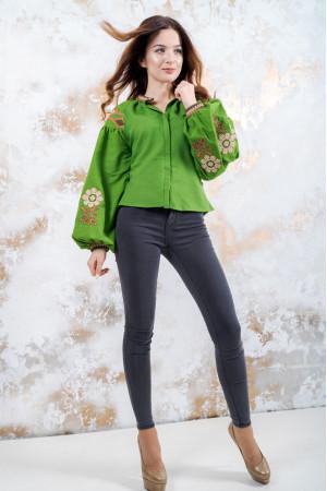 Вишиванка «Гармонія» зеленого кольору