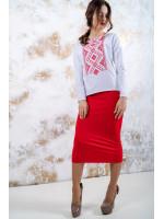 Костюм «Витонченість» з червоною вишивкою