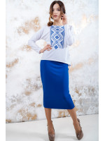 Костюм «Утонченность» с синей вышивкой