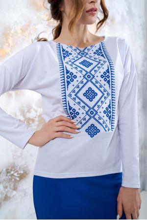 Костюм «Витонченість» з синьою вишивкою