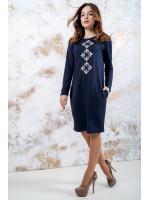 Трикотажное платье «Звездное» темно-синего цвета