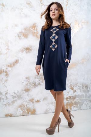 Трикотажна сукня «Зоряне» темно-синього кольору