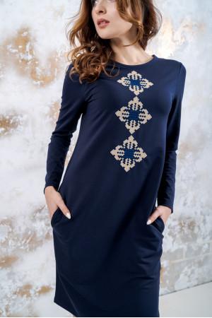 Трикотажна сукня «Зоряна» темно-синього кольору