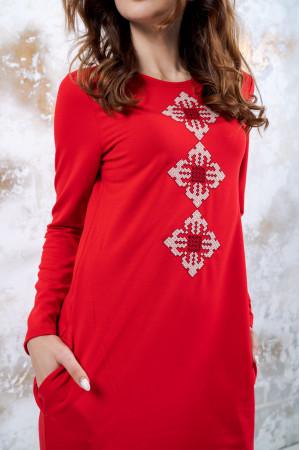 Трикотажна сукня «Зоряне» червоного кольору