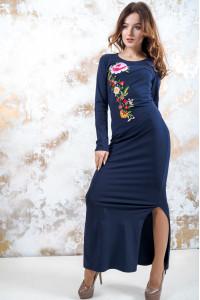 Трикотажна сукня «Весняна» темно-синього кольору
