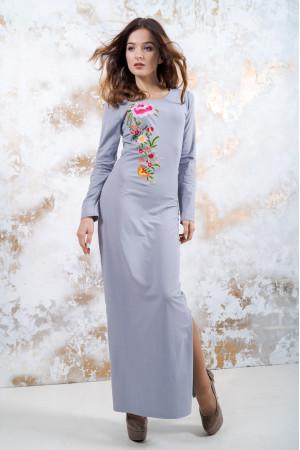 Трикотажное платье «Весеннее» серого цвета