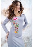 Трикотажна сукня «Весняна» сірого кольору