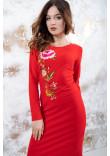 Трикотажна сукня «Весняна» червоного кольору