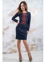 Платье «Феерия» темно-синего цвета