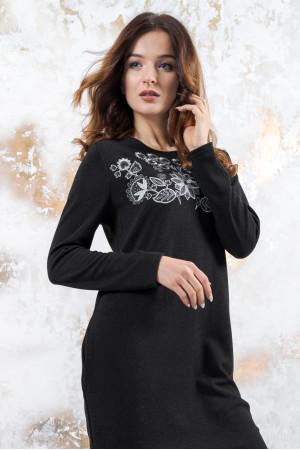 Трикотажна сукня «Осіння палітра» чорного кольору