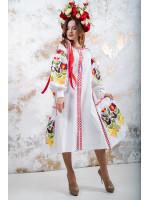 """Сукня """"Флора"""" білого кольору"""