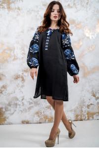 Сукня «Чарівність» з синім орнаментом