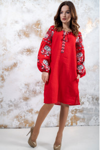 Платье «Очарование» красного цвета