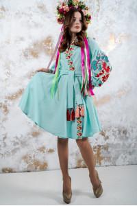 """Платье """"Колорит""""  мятного цвета"""