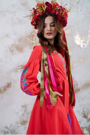 Сукня «Колорит» коралового кольору