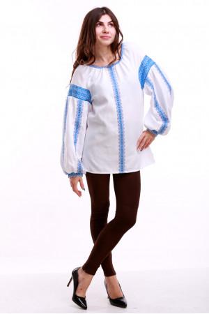 Женская вышиванка «Думка-2» с голубым орнаментом