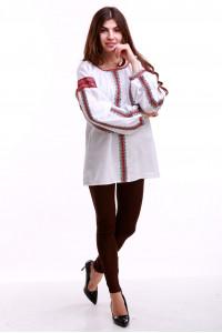 Женская вышиванка «Думка-2» с красным орнаментом