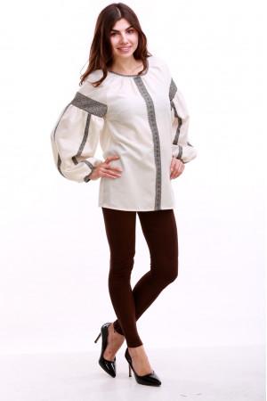 Женская вышиванка «Думка-2» молочного цвета