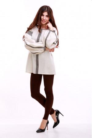 Жіноча вишиванка «Думка-2» молочного кольору