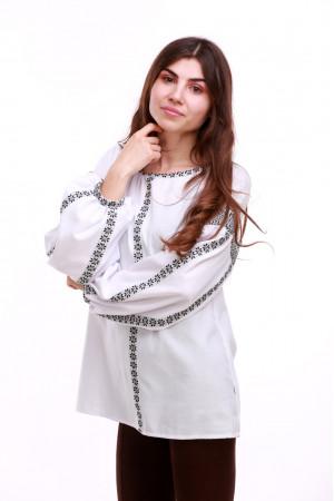 Женская вышиванка «Думка-2» с серым орнаментом