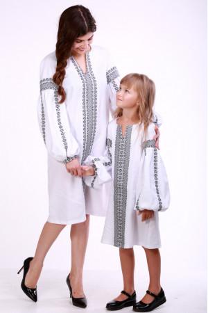 Комплект для мамы и дочки «Думка» с серым орнаментом