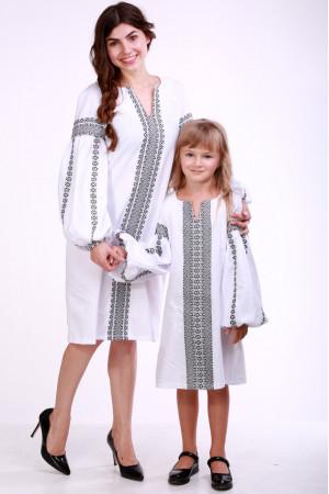Комплект для матері та доньки «Думка» з сірим орнаментом