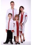 Семейный комплект «Думка» с красным орнаментом