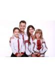 Сімейний комплект «Думка» з червоним орнаментом