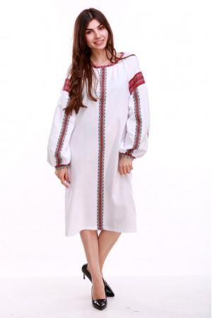 Сукня «Думка-2» з червоним орнаментом
