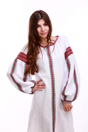 Платье «Думка-2» с красным орнаментом
