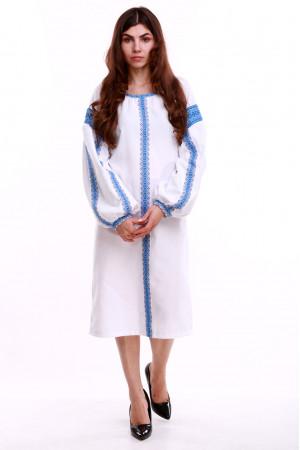 Платье «Думка-2» с голубым орнаментом