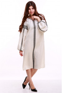 Платье «Думка-2» молочного цвета