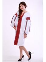 Сукня «Думка» з широким червоним орнаментом