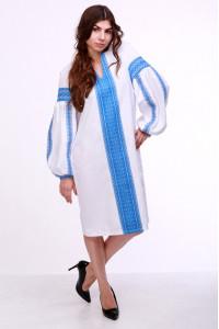 Сукня «Думка» з широким блакитним орнаментом