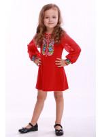 Платье для девочки «Звуки лета» красное