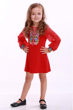 Сукня для дівчинки «Звуки літа» червона