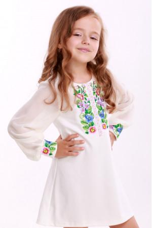 Платье для девочки «Звуки лета» белое