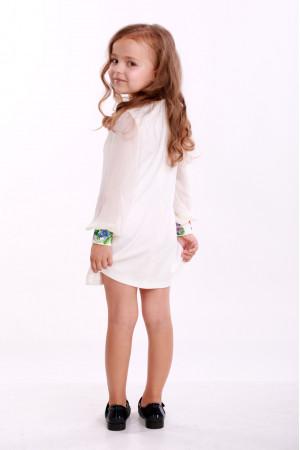 Сукня для дівчинки «Звуки літа» біла