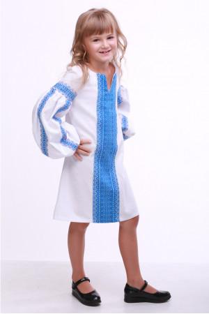 Сукня для дівчинки «Думка» біла з блакитним