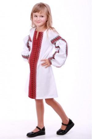 Платье для девочки «Думка» белое с красным
