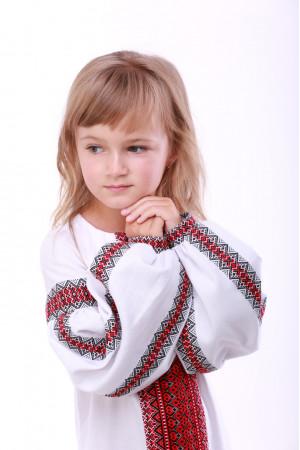 Сукня для дівчинки «Думка» біла з червоним