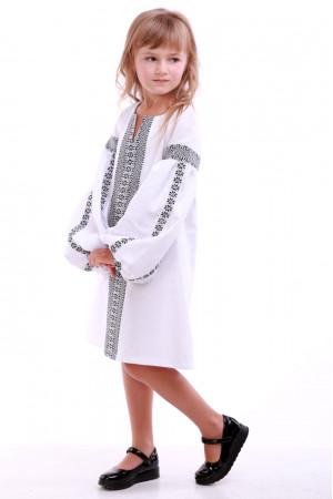 Платье для девочки «Думка» белое с серым