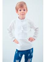 Вышиванка для мальчика «Элегантная» с белым орнаментом