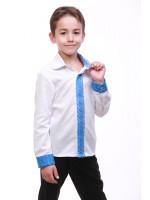 Вышиванка для мальчика «Думка» с синим орнаментом