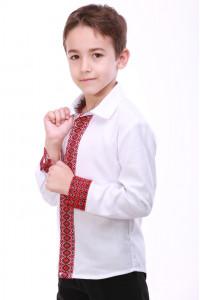Вишиванка для хлопчика «Думка» з червоним орнаментом