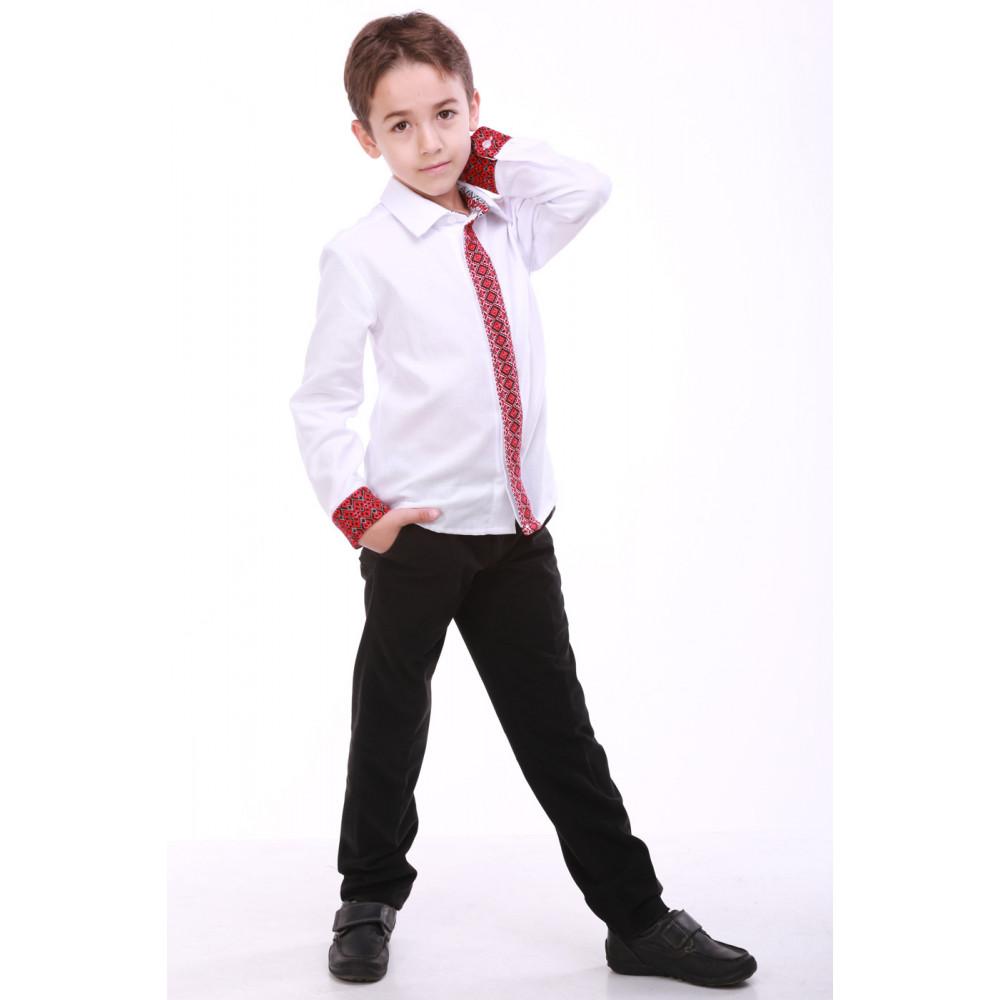 Вишиванка для хлопчика «Думка» з червоним орнаментом – вишита ... 19013108ae2d9